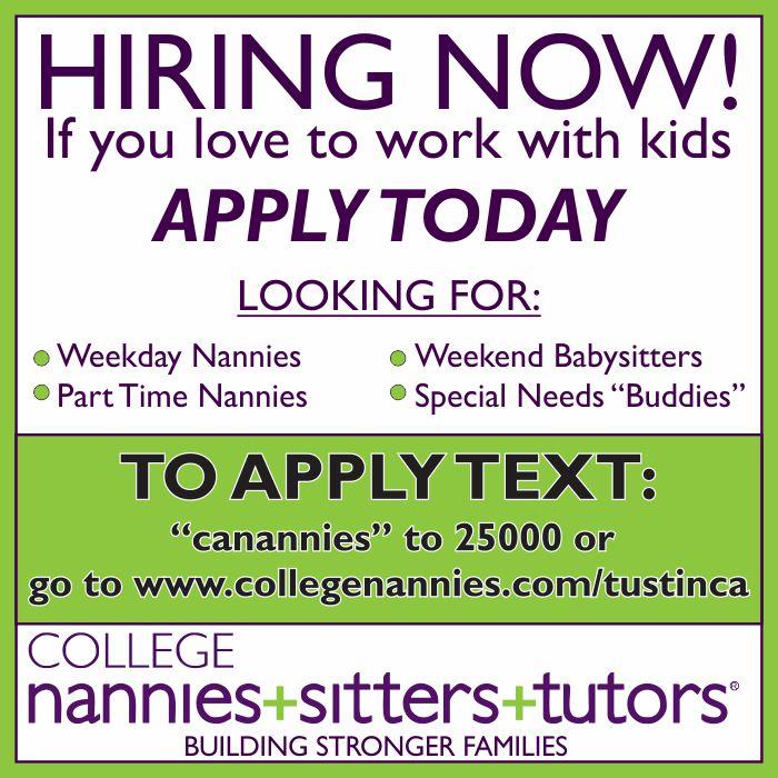 College Nannies Banner