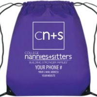 College Nannies Drawstring Bags