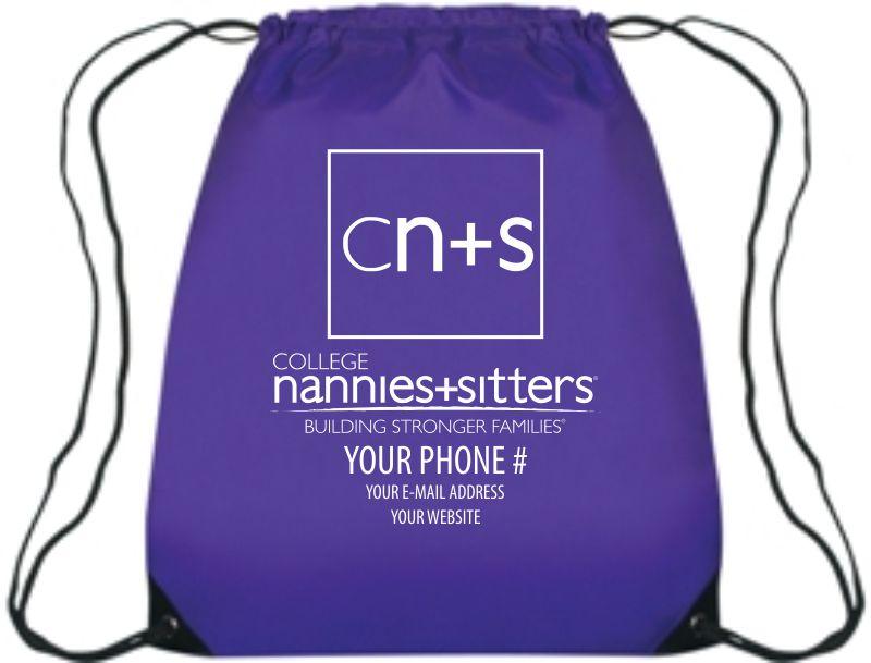 College Nannies Drawstring Bags