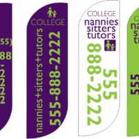 College Nannies sitter and tutors custom Breeze Banners