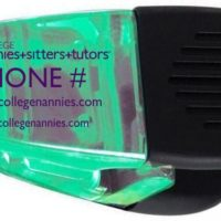 Custom College Nannies + Sitters + Tutors Clip Chip Holder