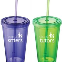 Custom College Nannies + Sitters + Tutors Custom Drinking Glasses