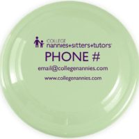 Custom College Nannies + Sitters + Tutors Flying Disc