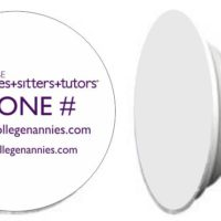 Custom College Nannies + Sitters + Tutors Custom cell Phone stand Popsocket