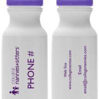 College Nannies water bottles