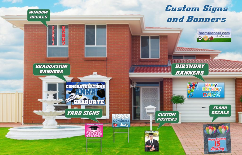 Home Signage for Graduations and Birthdays from InfoPlast